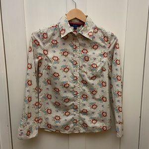Boden - Cream Floral Button Down Shirt